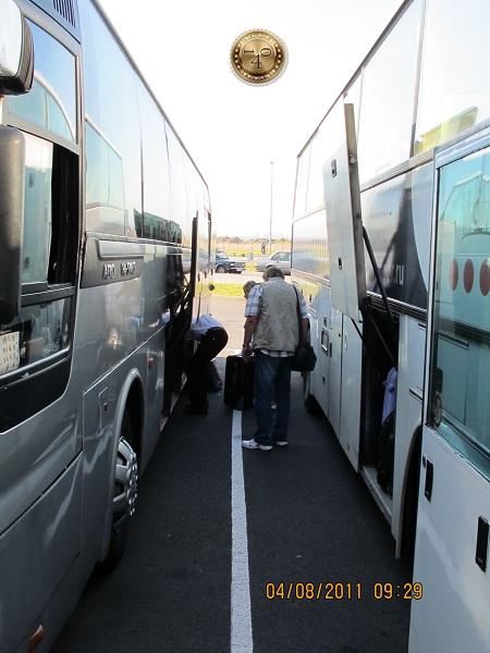 Автобус из порта на вокзал Санкт-Петербурга
