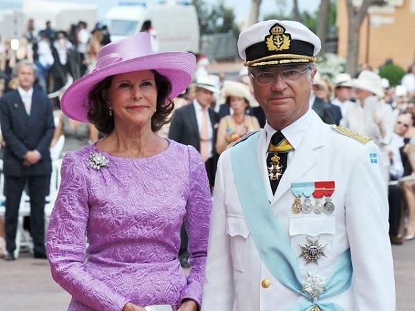 Король Швеции Густав XVI с супругой Сильвией