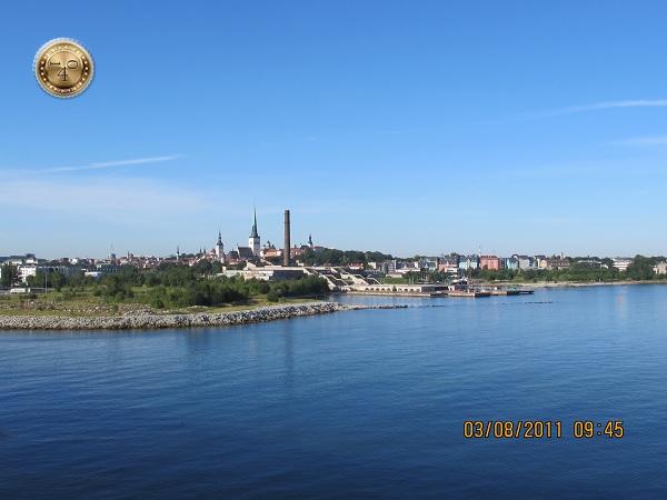 Вид на Таллин с моря