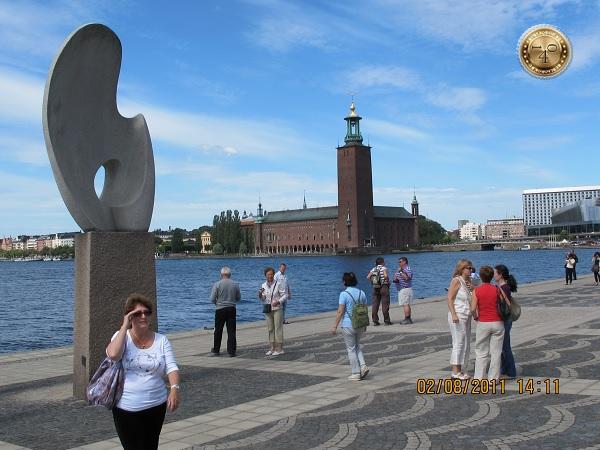 Ухо на набережной в Стокгольме