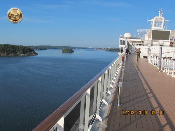 Утро на палубе корабля
