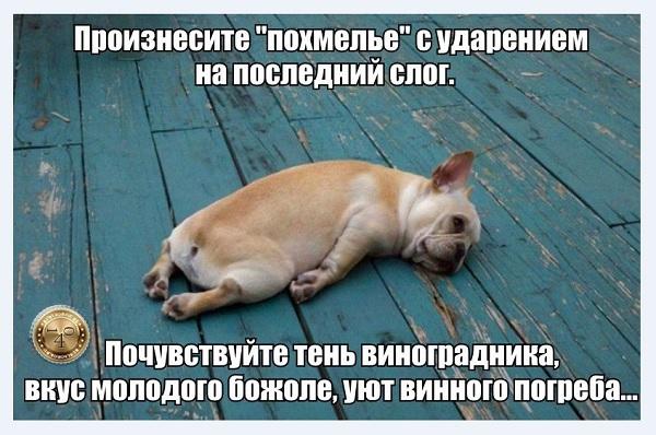 После пьянки