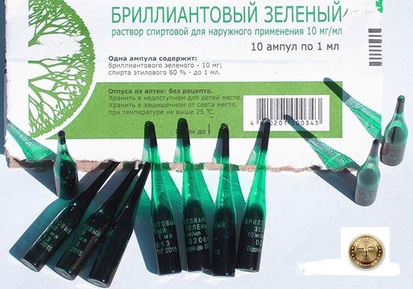бриллиантовый зеленый спиртовой раствор