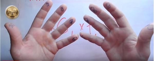 нумеруем пальцы