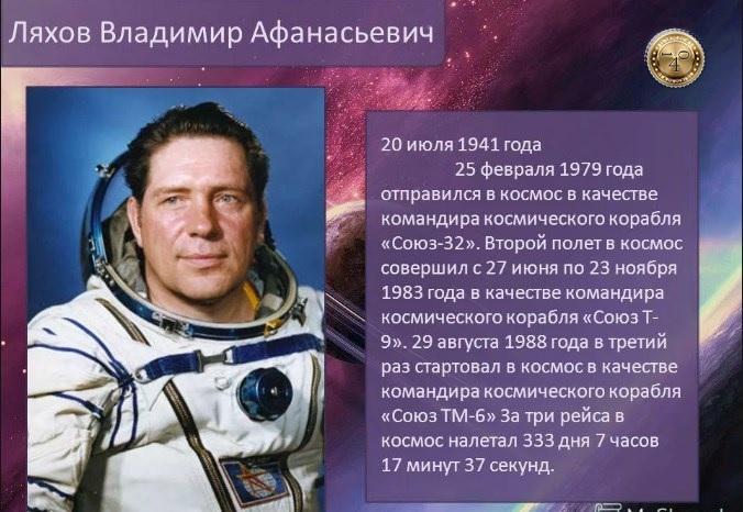 космонавт ляхов