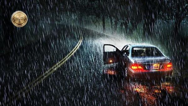 дождливая ночь на трассе