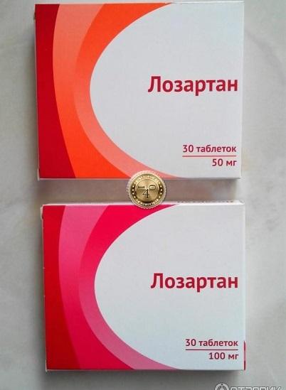 упаковки лозартана