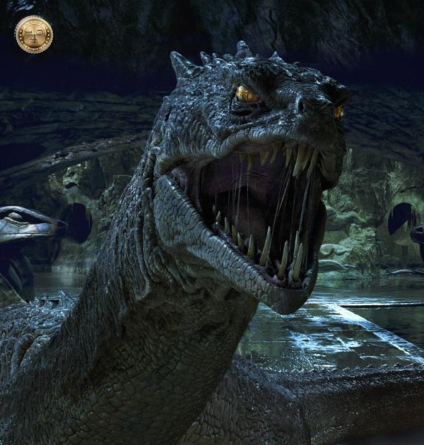 василиск из фильма о Гарри Поттере