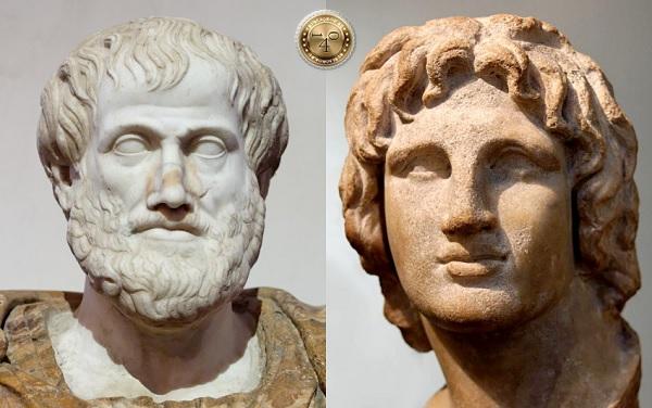 Александр Македонский и Аристотелб