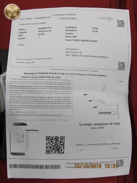 билет Мадрид-Севилья