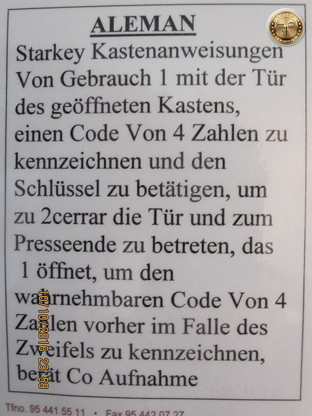 инструкция на немецком языке