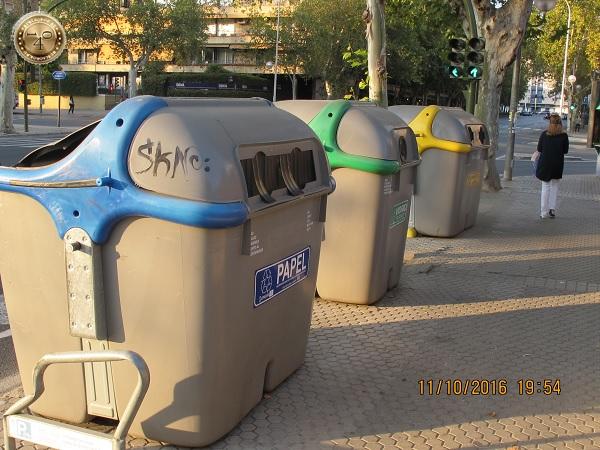 контейнеры для раздельного сбора мусора в Севилье