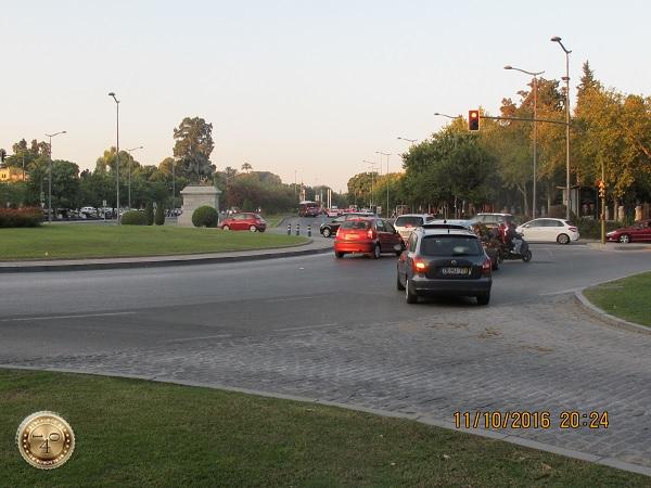 площадь с круговым движением в Севилье