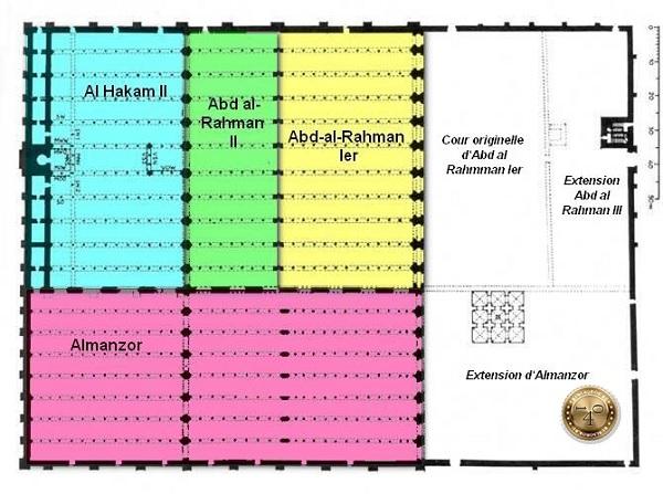 схема Мескиты в Кордобе
