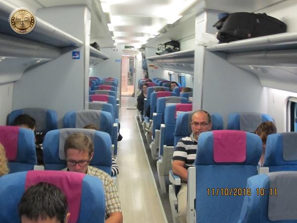 в вагоне испанского поезда