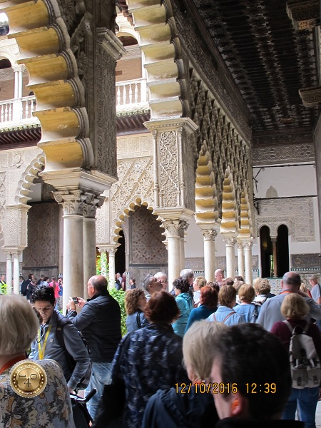 арки внутреннего арабского дворика