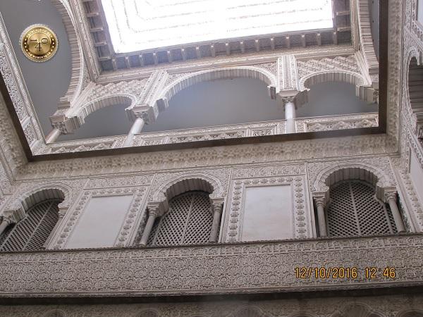 верхние этажи Алькасара в Севилье