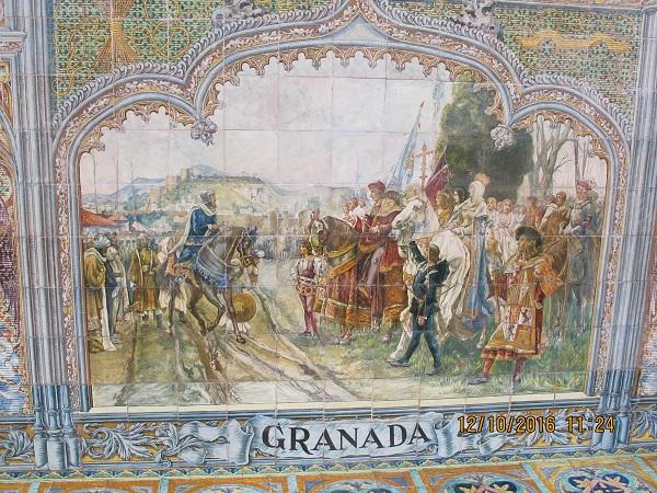 панно со сценой из истории Гранады