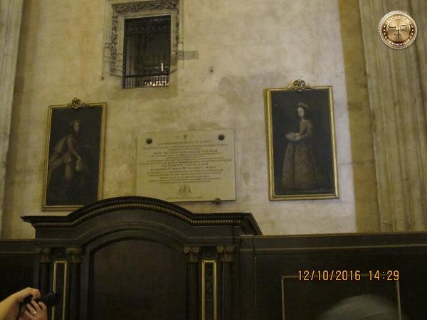 две картины в Кафедральном соборе в Севилье
