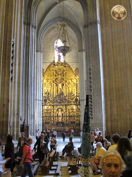 вид на иконостас в Кафедральном соборе в Сквилье