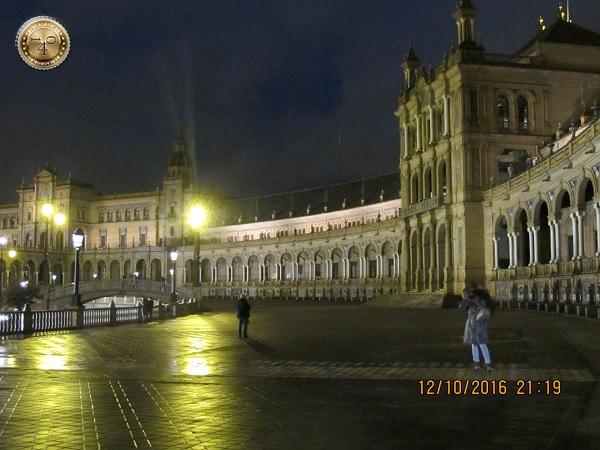 ночь на площади Испании