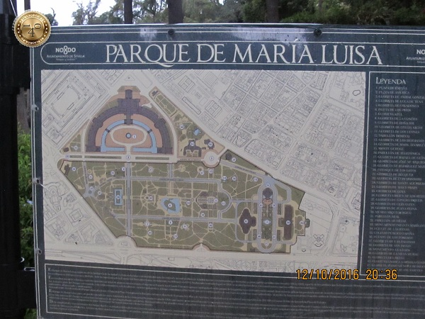 план парка Марии Луизы в Севилье