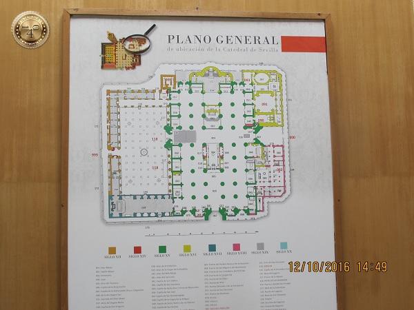план Кафедрального собора в Севилье