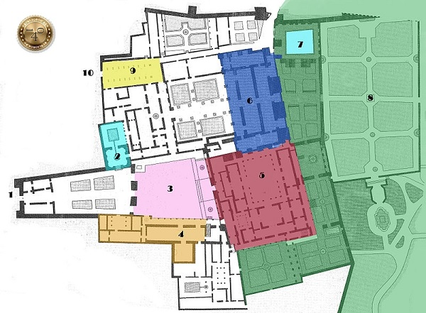 план Алькасара в Севилье