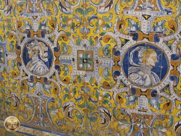 плиточное панно в спальне короля Карла V