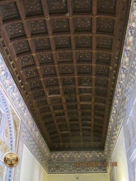 кессонные потолки в Алькасаре
