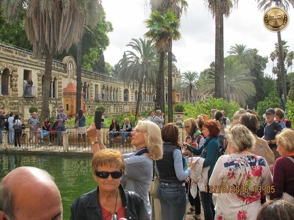 сад в Алькасаре в Севилье