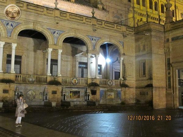 подсветка на площади Испании