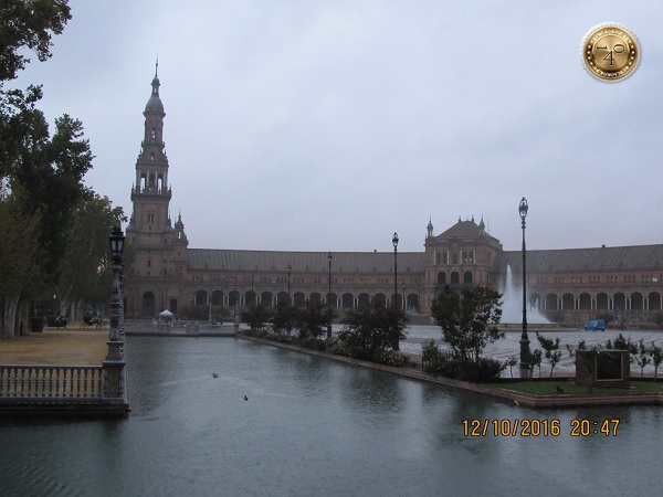 утки в пруду на площади Испании