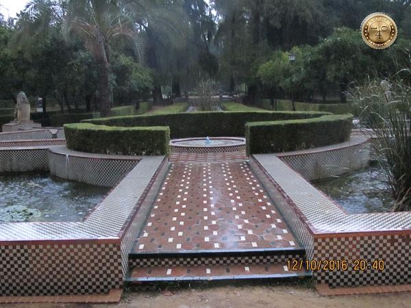 в парке Марии Луизы