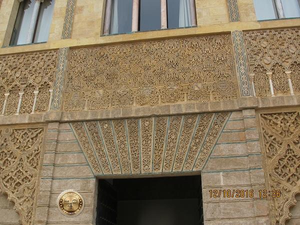 резьба по камню в Алькасаре в Севилье