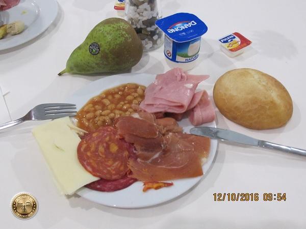 """завтрак в гостинице """"Pasarela"""" в Севилье"""