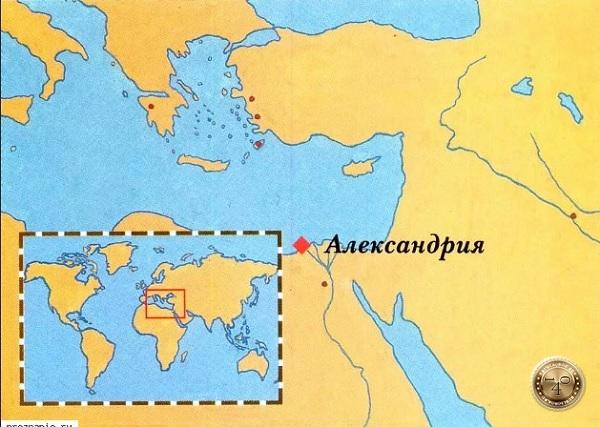 карта с маяком