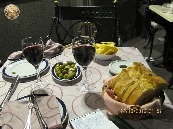 Красное вино на ужин