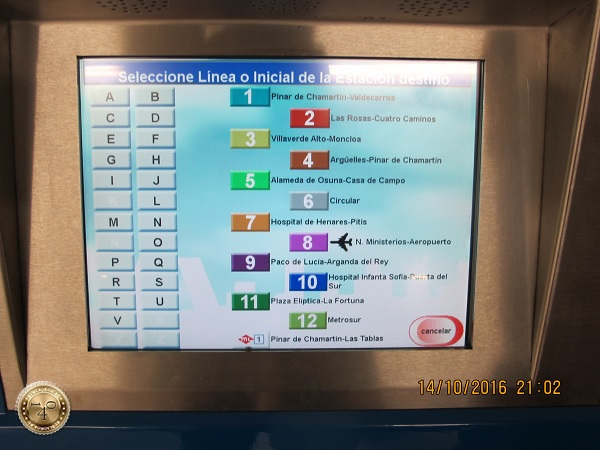 Дисплей в испанском метро