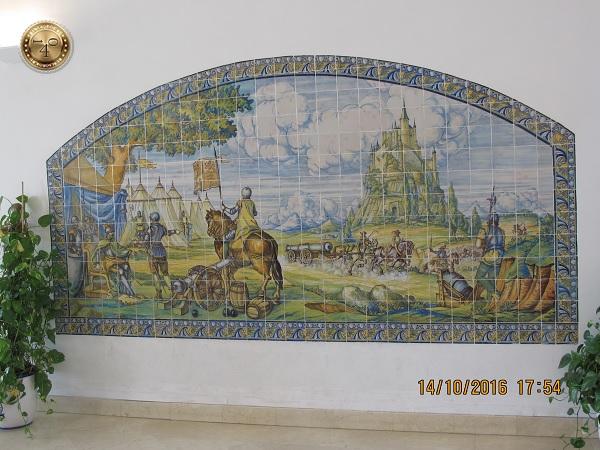 Панно со сценой осады Алькасара