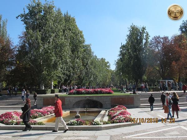 Парк в центре Мадрида