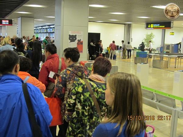 регистрируемся на рейс Мадрид-Москва