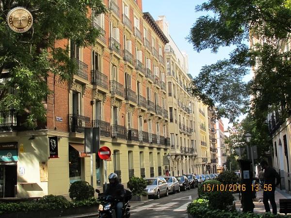 Живописная улица Мадрида