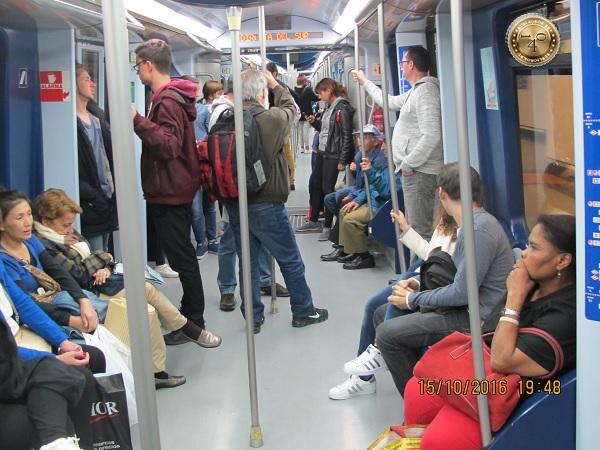 В вагоне метро