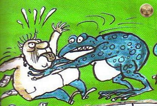 жаба задушила