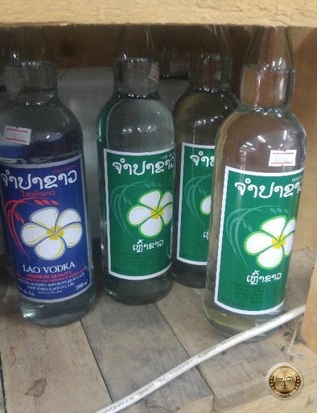 Бутылка лаосской водки