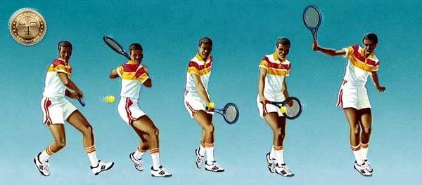 Удар слева в теннисе
